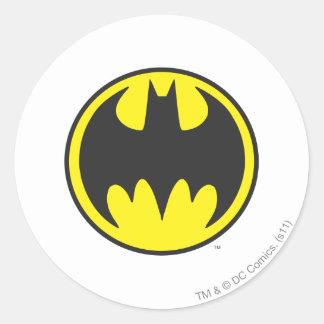 Círculo del logotipo del palo de Batman Pegatinas Redondas