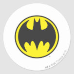 Círculo del logotipo del palo de Batman Pegatinas