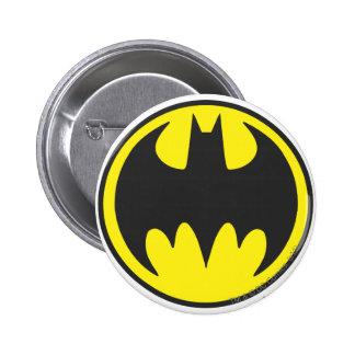 Círculo del logotipo del palo de Batman Pin Redondo 5 Cm