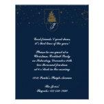 Círculo del lunar del oro en el árbol de navidad d comunicados personalizados