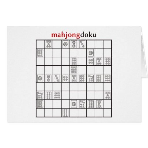 círculo del mahjongdoku tarjeta de felicitación