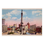 Círculo del monumento de Indianapolis, Indiana Impresiones
