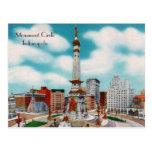 Círculo del monumento postales