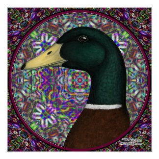 Círculo del mosaico de Drake del pato silvestre Posters