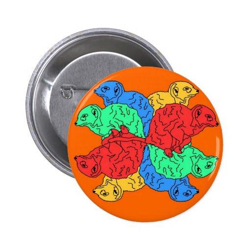 Círculo del naranja del color pin
