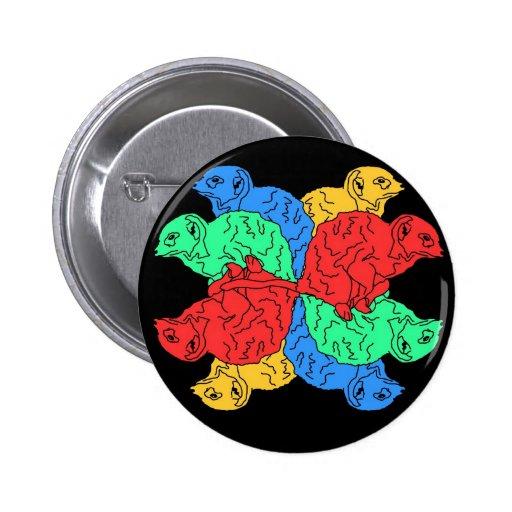 Círculo del negro del color pin