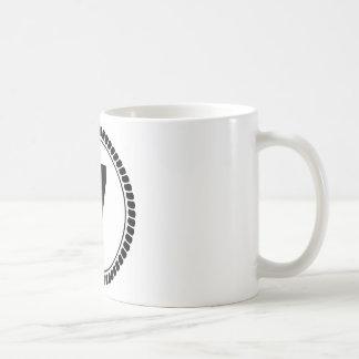 Círculo del número siete taza de café