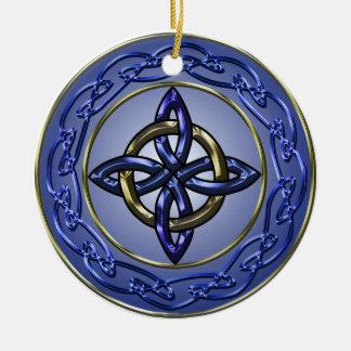 Círculo del ornamento del árbol del nudo de la ete adornos