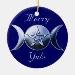 Círculo del ornamento del árbol del símbolo de la  ornamentos de navidad