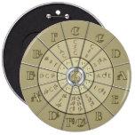 Círculo del oro de Deco de los quintos 2 botones Pins