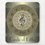 Círculo del oro de Deco de los quintos Alfombrillas De Ratones