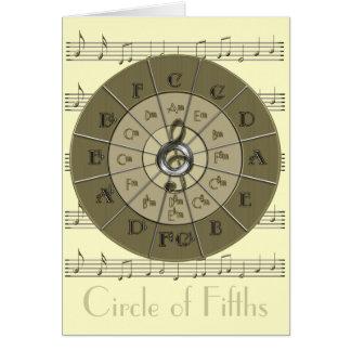 Círculo del oro de Deco de los quintos Felicitación