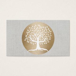 Círculo del oro del profesor de la yoga y aptitud tarjetas de visita