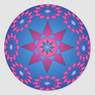 Círculo del pegatina de las estrellas