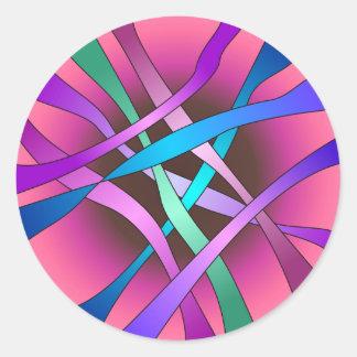 Círculo del pegatina ligero