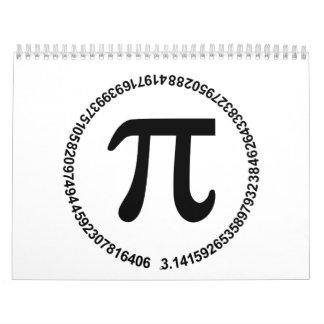 Círculo del pi calendario