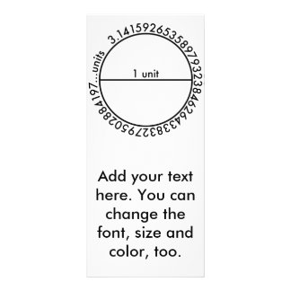 Círculo del pi tarjetas publicitarias a todo color