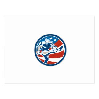 Círculo del Placekicker del fútbol americano retro Tarjetas Postales