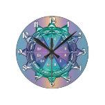 Círculo del reloj de la música de la mandala de