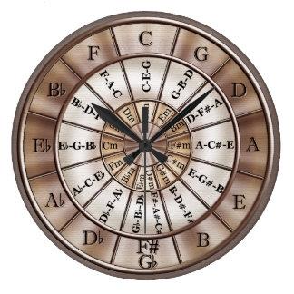 Círculo del reloj de pared de la música de los qui