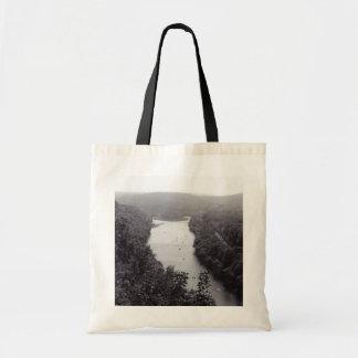 Círculo del río bolsa tela barata