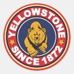 Círculo del rojo de Yellowstone Etiqueta Redonda