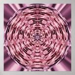 Círculo del satén del vino posters