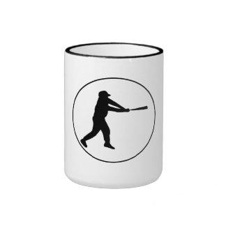 Círculo del talud del béisbol taza de café
