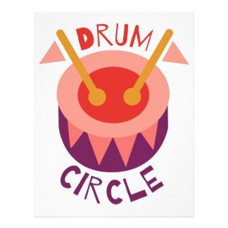 Círculo del tambor plantilla de membrete