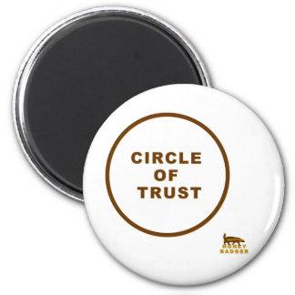 círculo del tejón de miel de la confianza imán redondo 5 cm