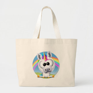 Círculo del unicornio y del arco iris de Sunshine™ Bolsa Tela Grande