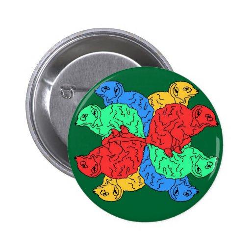 Círculo del verde del color pin
