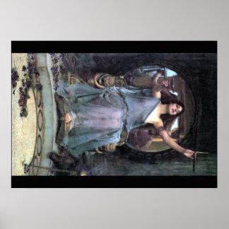 Círculo del Waterhouse que ofrece a Ulises Póster