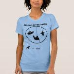 Círculo del Wordplay atado/de la confianza Camiseta