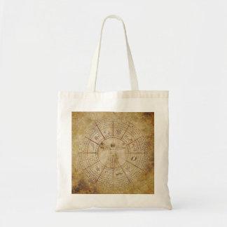 Círculo del zodiaco bolsa tela barata