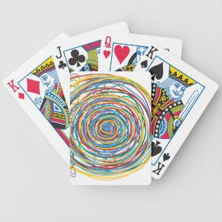 círculo digital 1606 del diseño cartas de juego