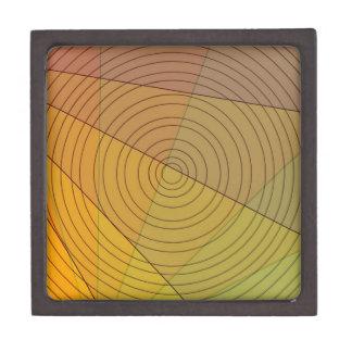Círculo en triángulo caja de recuerdo de calidad