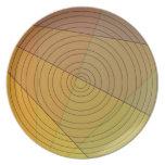 Círculo en triángulo platos para fiestas
