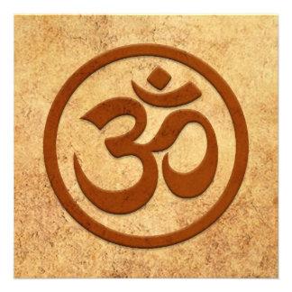 Círculo envejecido y llevado de OM de la yoga Comunicados Personales