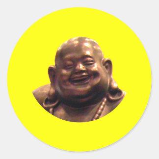 Círculo feliz de Buda Shangai 2002 el MUSEO Zazz Pegatina Redonda