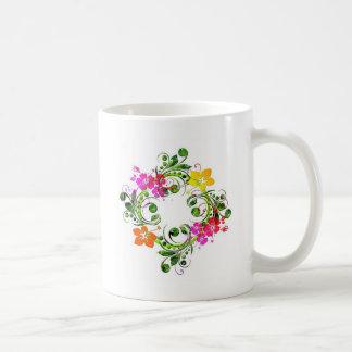 circulo floral del em del imagem tazas
