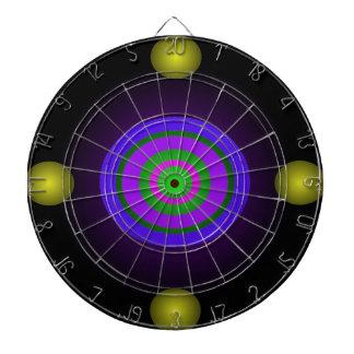 Círculo futurista de la persona hipnotizada del di tablero de dardos