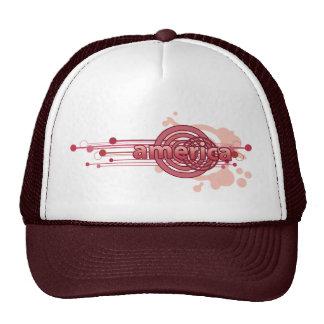 Círculo gráfico rosado América Gorras