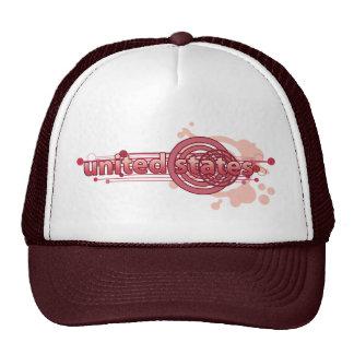 Círculo gráfico rosado Estados Unidos Gorro De Camionero