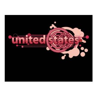 Círculo gráfico rosado Estados Unidos Postal