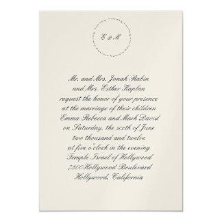 Círculo hebreo de L'Dodi del Ani de la invitación