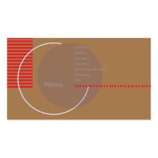 Círculo incompleto - negocio tarjetas de visita