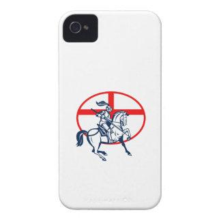 Círculo inglés de la bandera de Inglaterra del cab iPhone 4 Case-Mate Funda