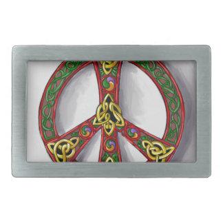 Círculo irlandés hebillas de cinturon rectangulares