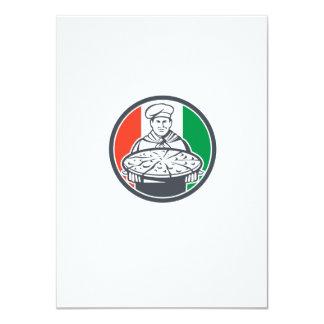 """Círculo italiano de la pizza de la porción del invitación 4.5"""" x 6.25"""""""